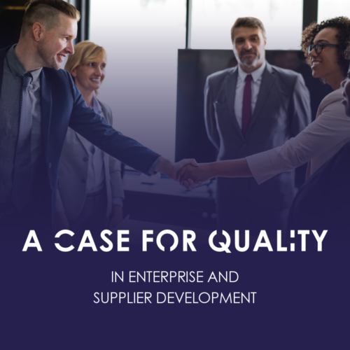 A Case For Quality